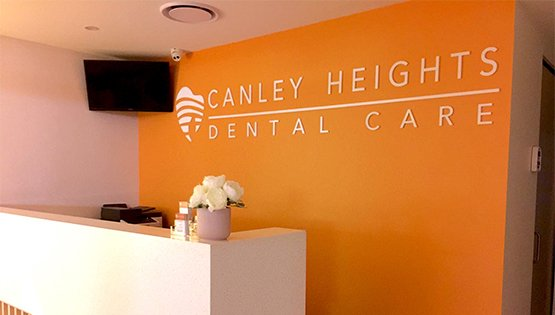canley heights dental care reception area