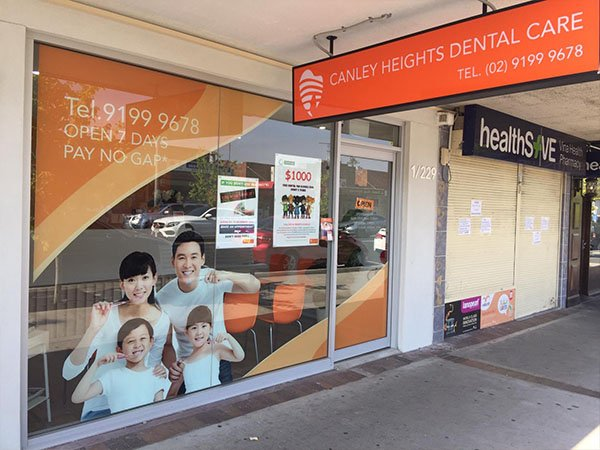 canley heigths dental care front building